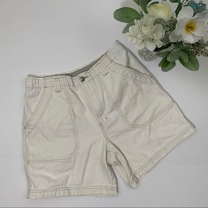 Columbia high rise cream cotton shorts size 8